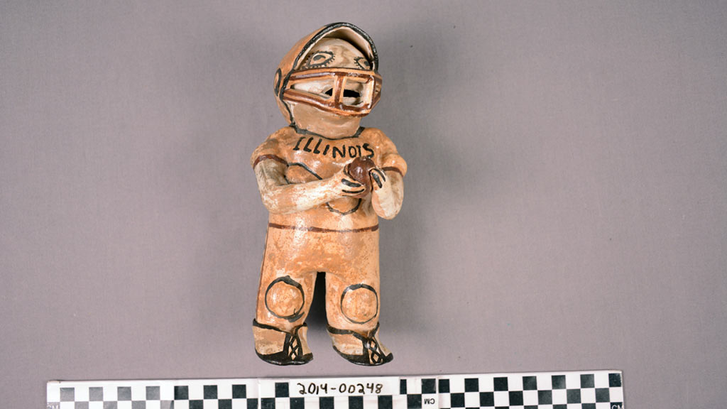 MVP? A Football Figurine by Canelos Potters Estela Dagua and Miriam Vargas