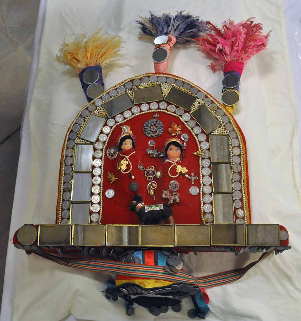 Photo of headdress after cleaning