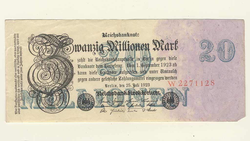 1920s Hyperinflation in Germany and Bank Notes
