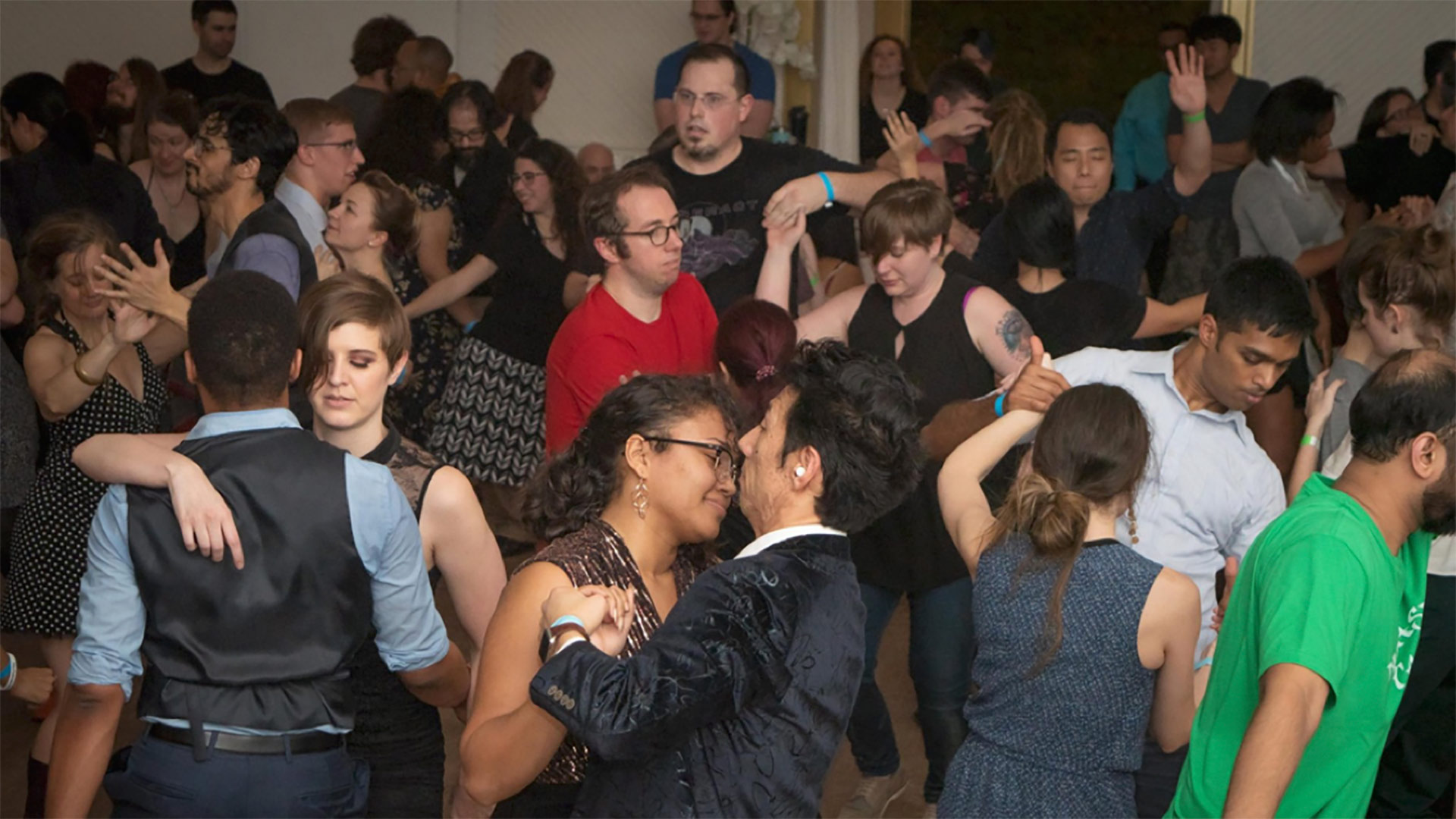Modern day photo of people blues dancing