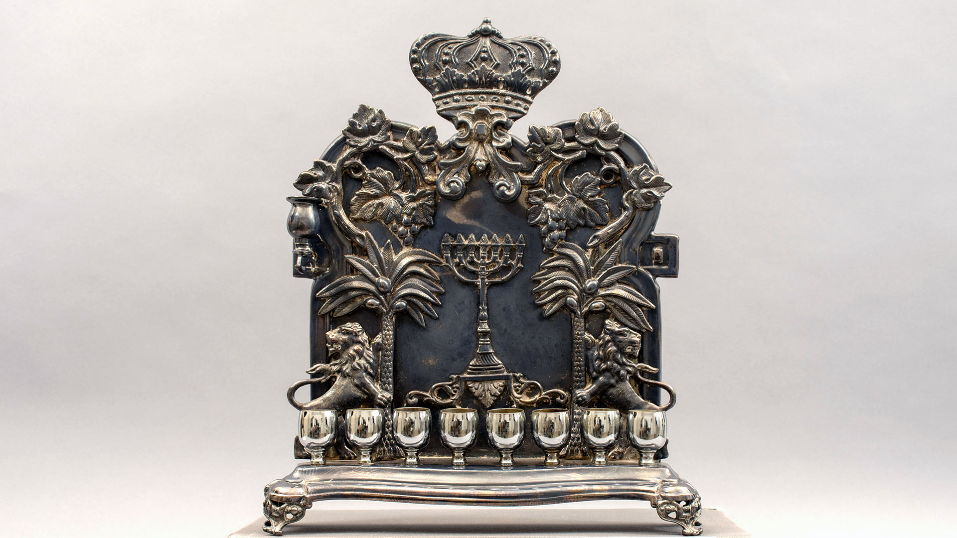 Featured Object: Menorah, Hanukkah (1996.04.0003)  overview image