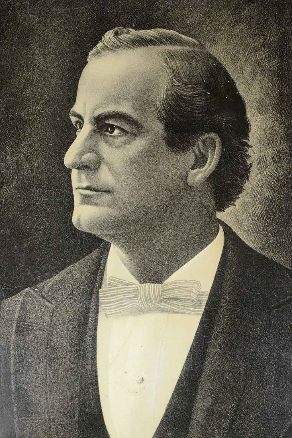 portrait of W.J. Bryan, middle aged-man in suit
