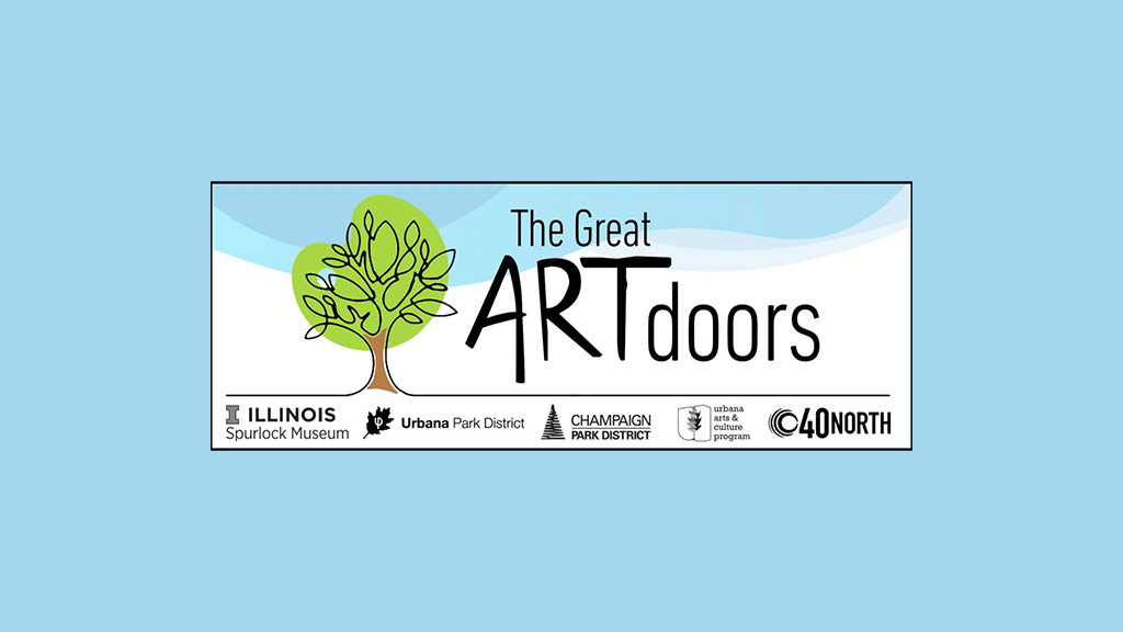 The Great ARTdoors logo with tree illustration and partner logos.