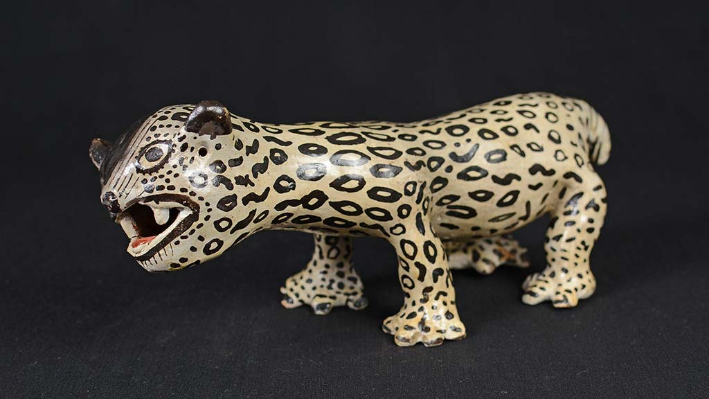 white jaguar with black spots
