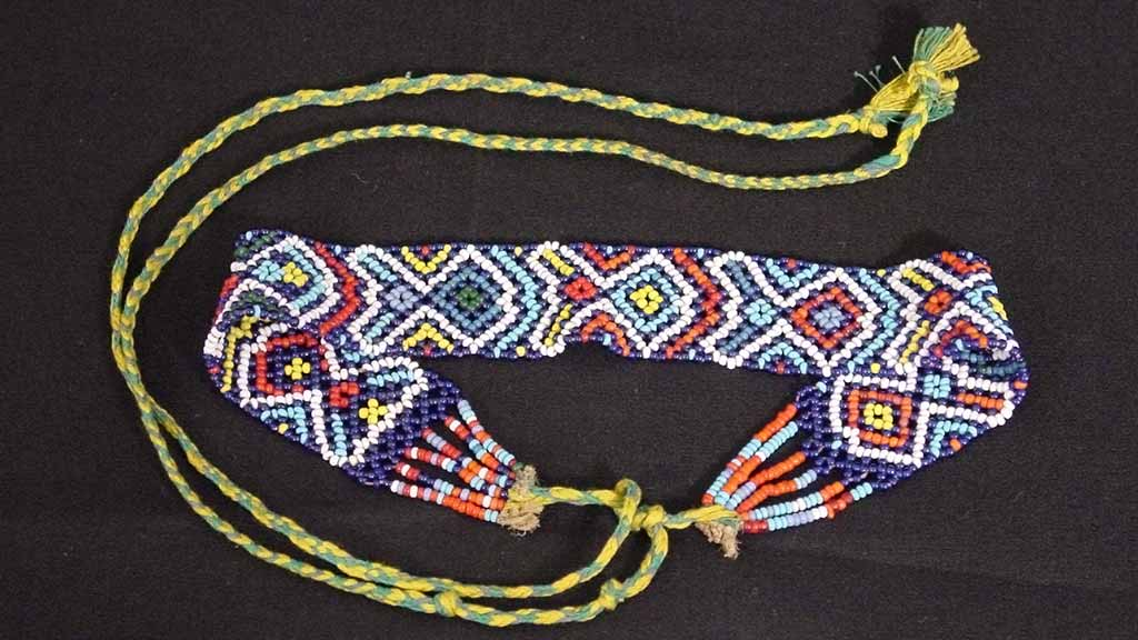 beaded neckband with strings