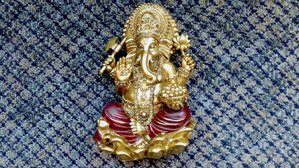 a ganesha figurine from the kit