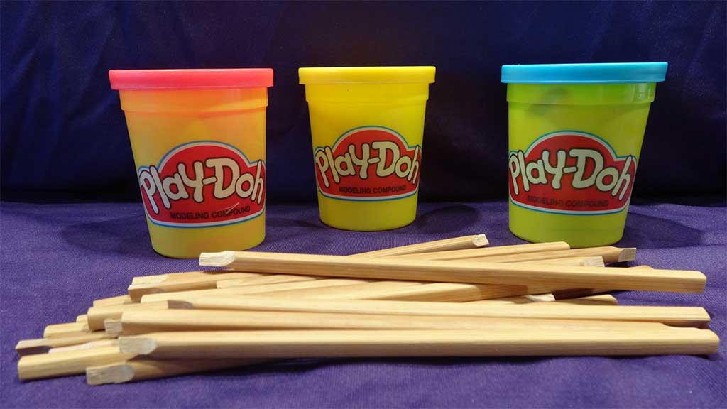 Play-doh and wooden stlyi