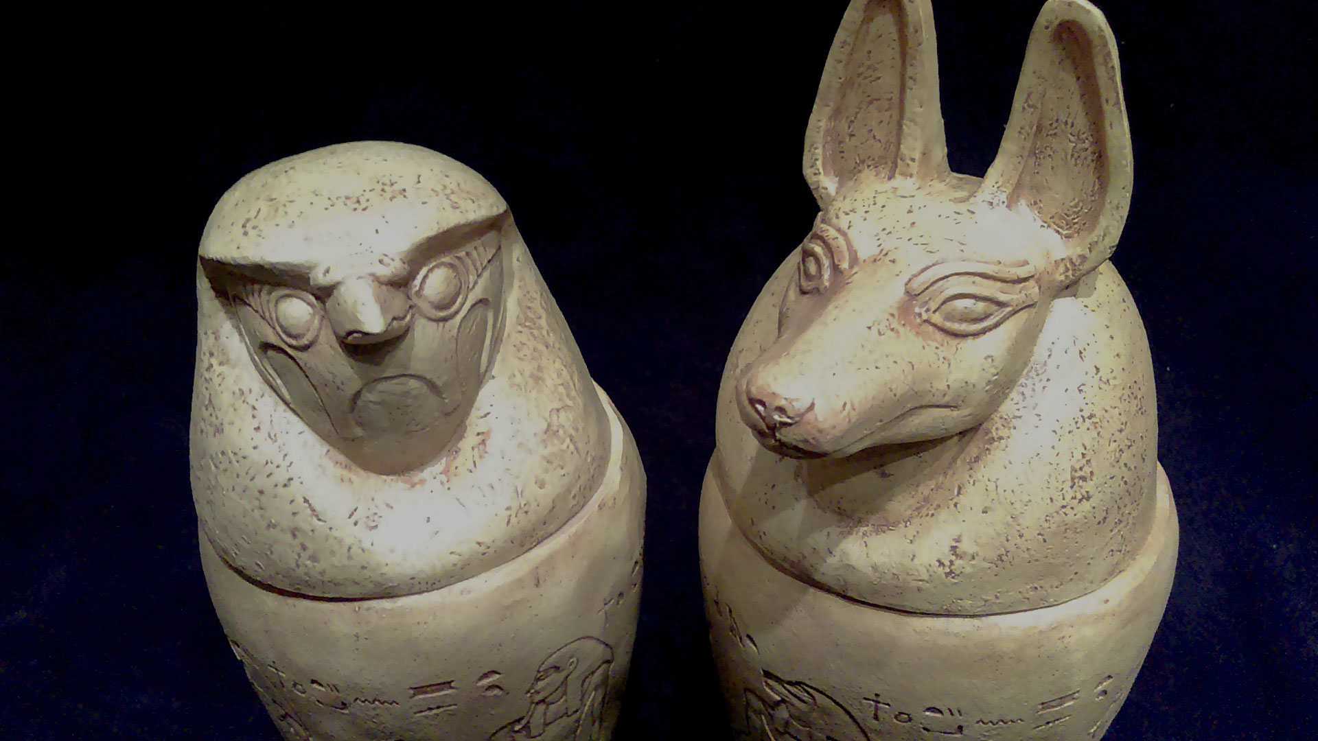 two conopic jars