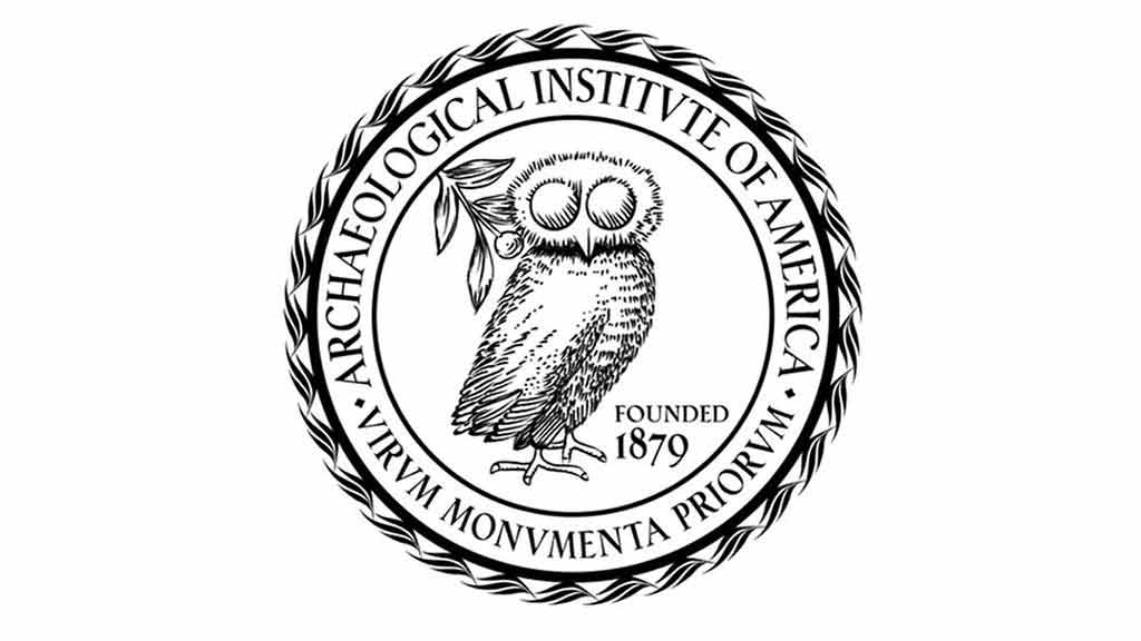 AIA logo, an owl in the center