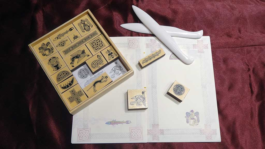 Europeans manuscript rubber stamps and bookbinding tools