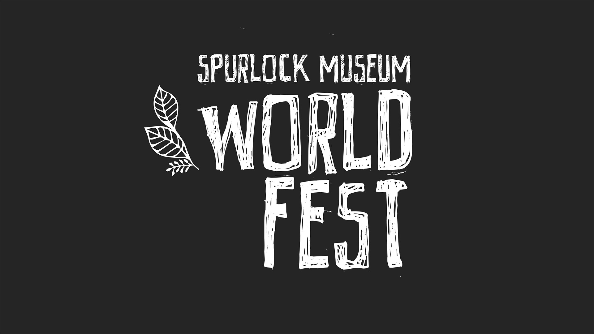 spurlock museum world fest logo with leaves