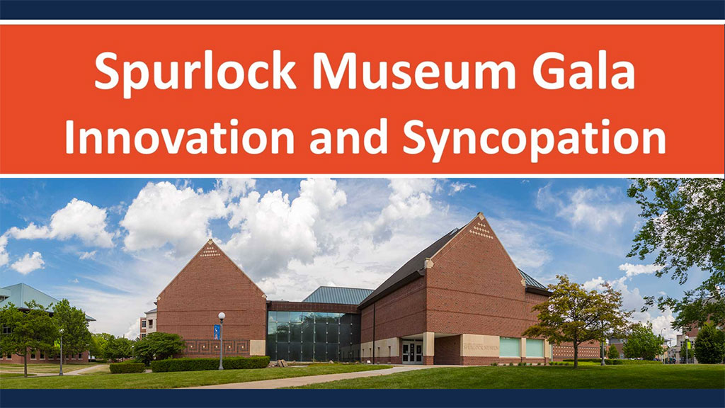 Spurlock Museum Gala Innovation and Syncopation with exterior photo