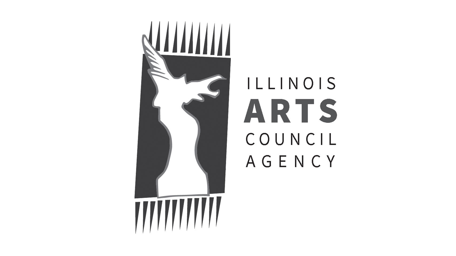 /img/Black and white Illinois arts council agency logo