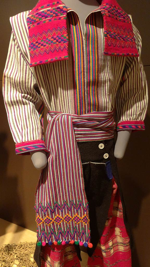traditional maya clothes with colorful strips