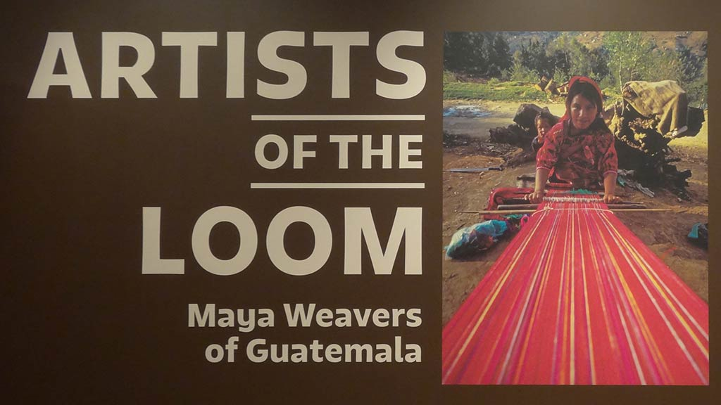 artist of the loom with a photo of maya weaver on the side