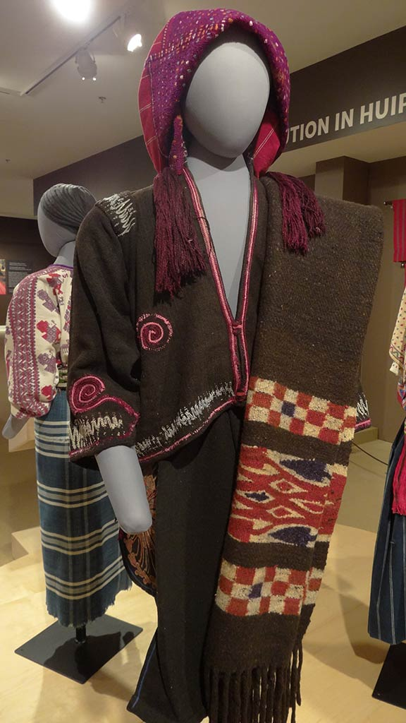 traditional maya clothes, brown