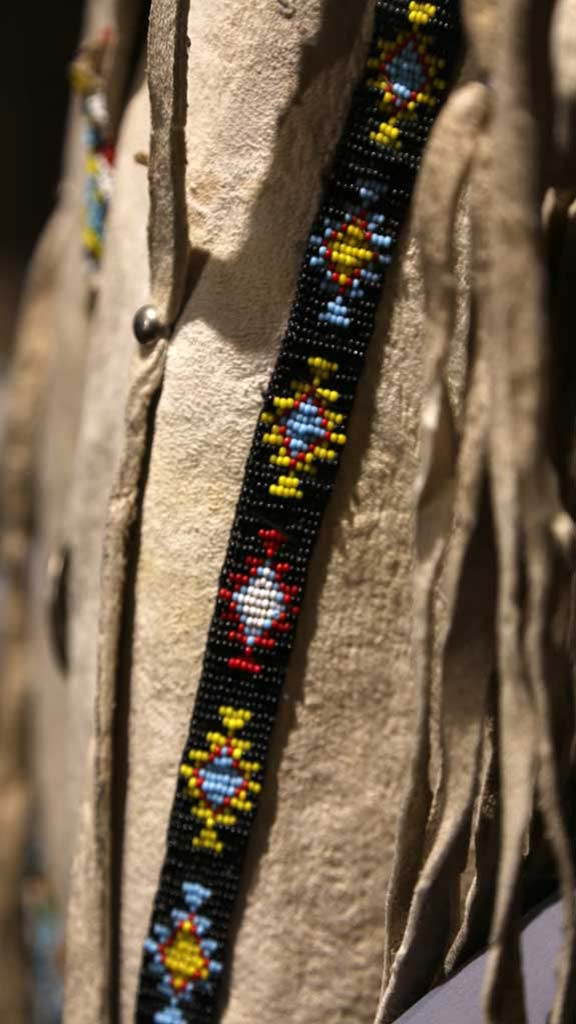 closeup of the beaded band