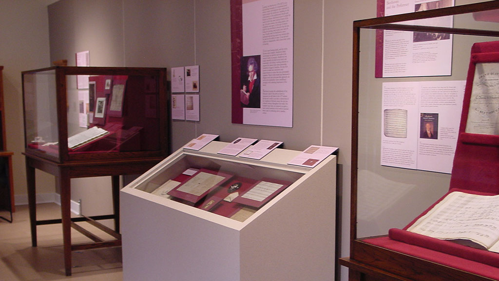 A photo of the Beethoven exhibit