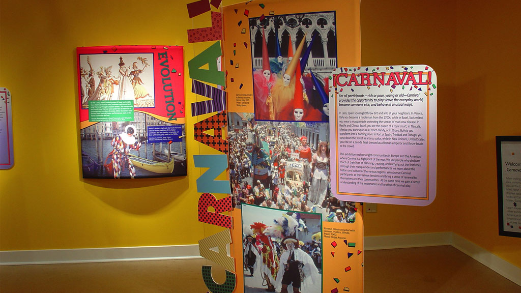 A photo of the ¡Carnaval! exhibit