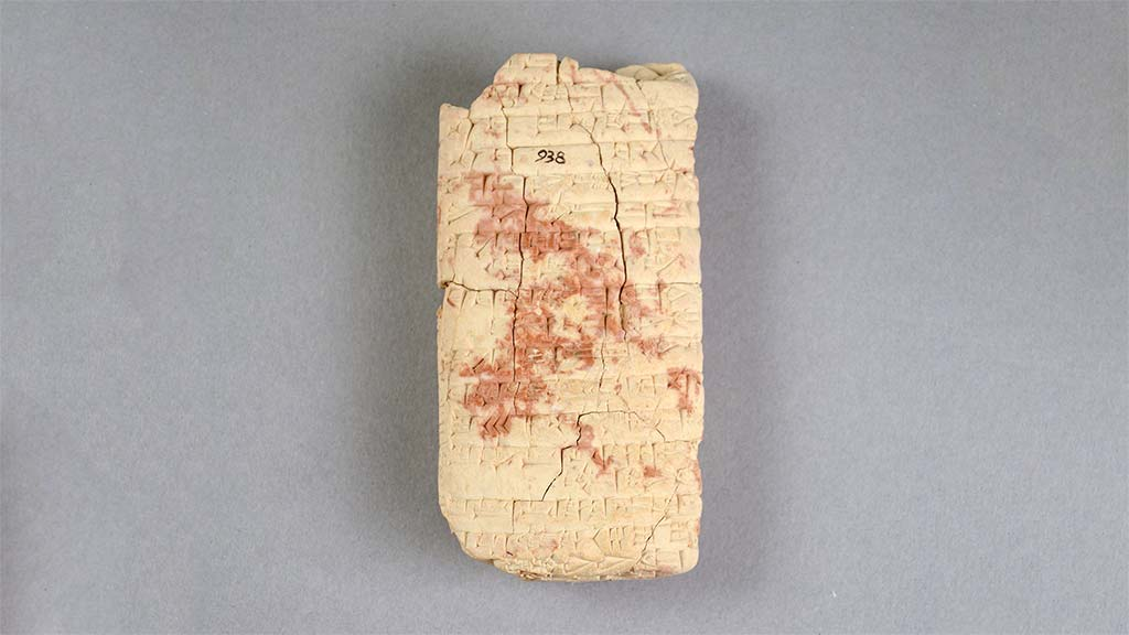 light-colored cuneiform tablet
