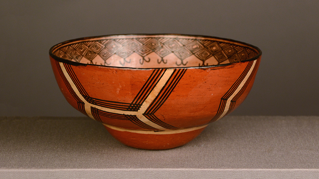 drinking bowl with geometric design