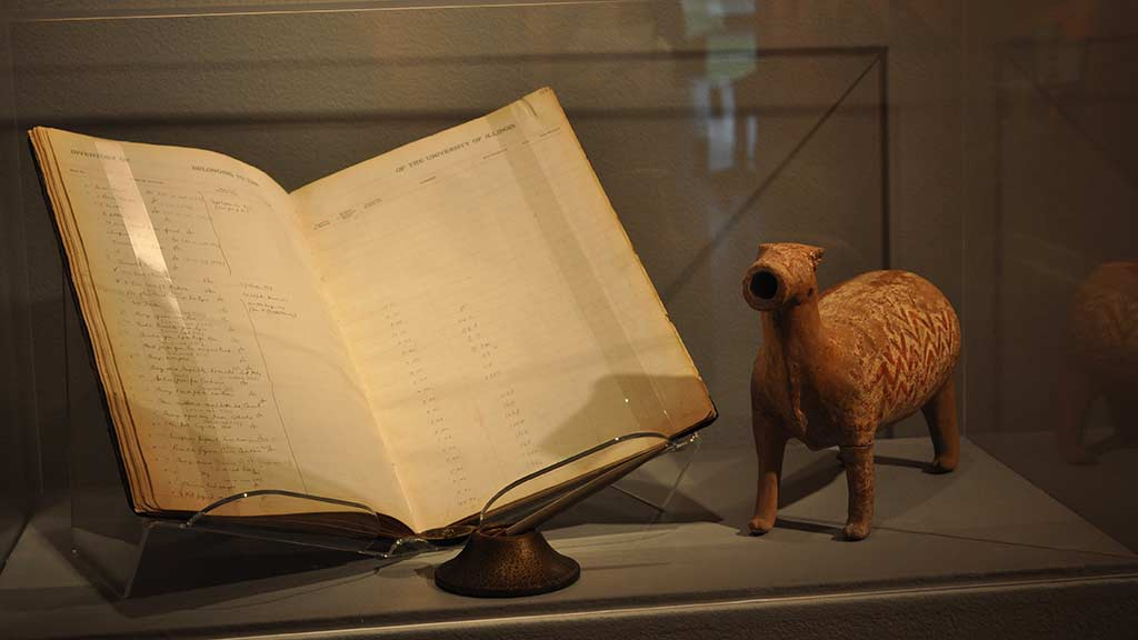 book and animal sculpture