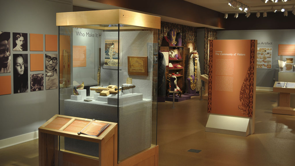 Campbell Gallery example photo (showing the Collecting and Connecting previous exhibit)