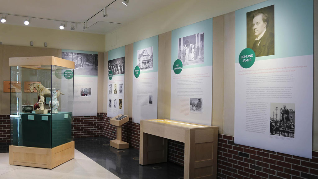 A photo of the East Meets Midwest exhibit