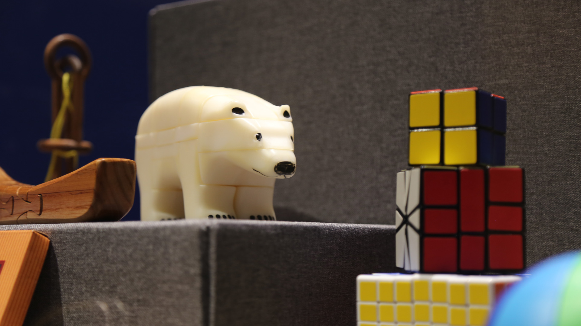 close up of polar bear puzzle