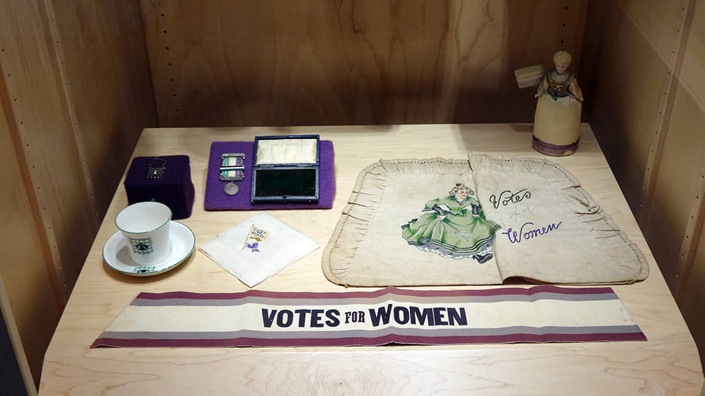 Exhibit Photo: Suffrage and Campaign Memorabilia