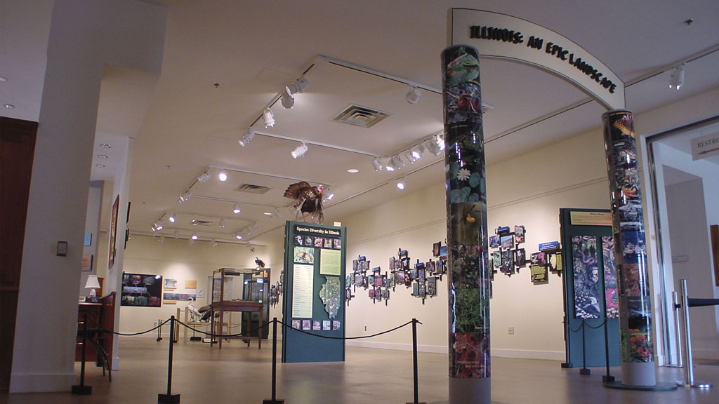 A photo of the Illinois exhibit