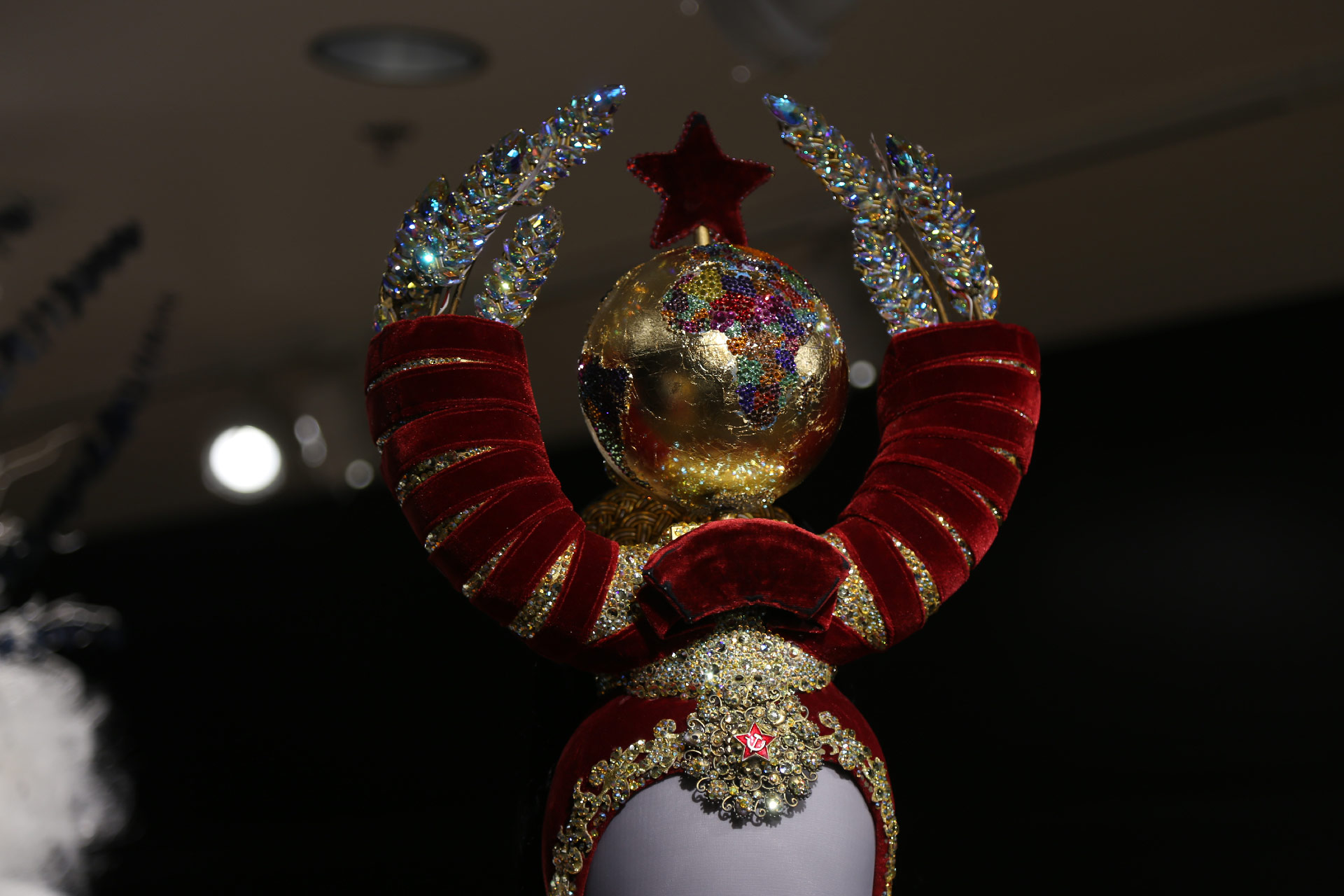 Close up of Russian crown costume piece