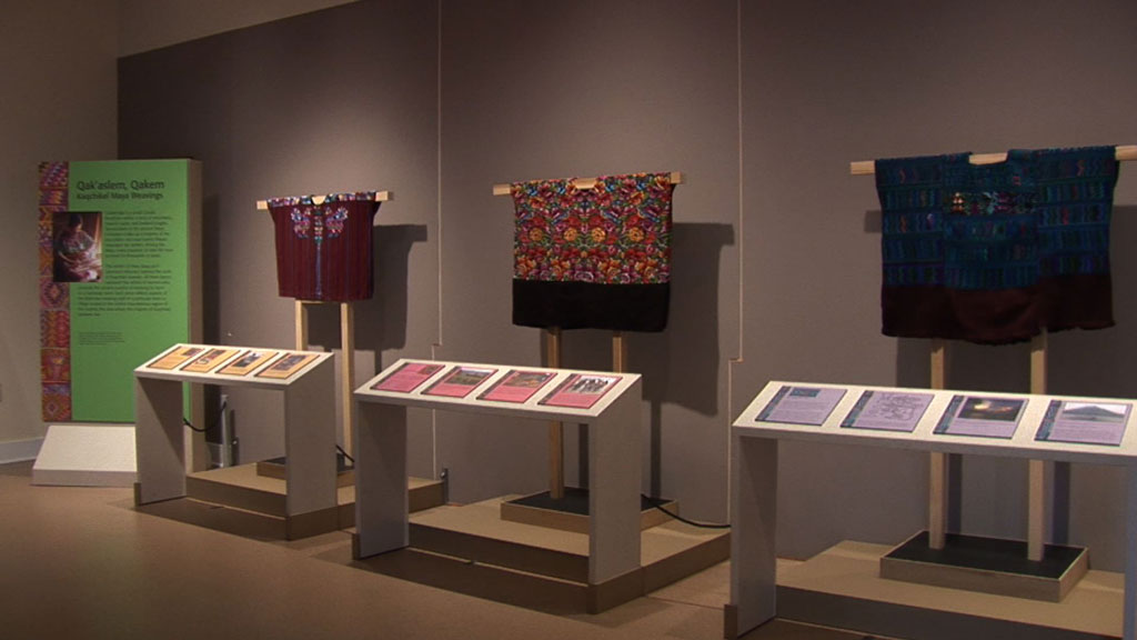 A photo of the Qak'aslem, Qakem: Kaqchikel Maya Weavings exhibit