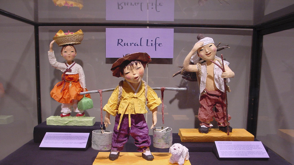 A photo of the Korean Dolls exhibit