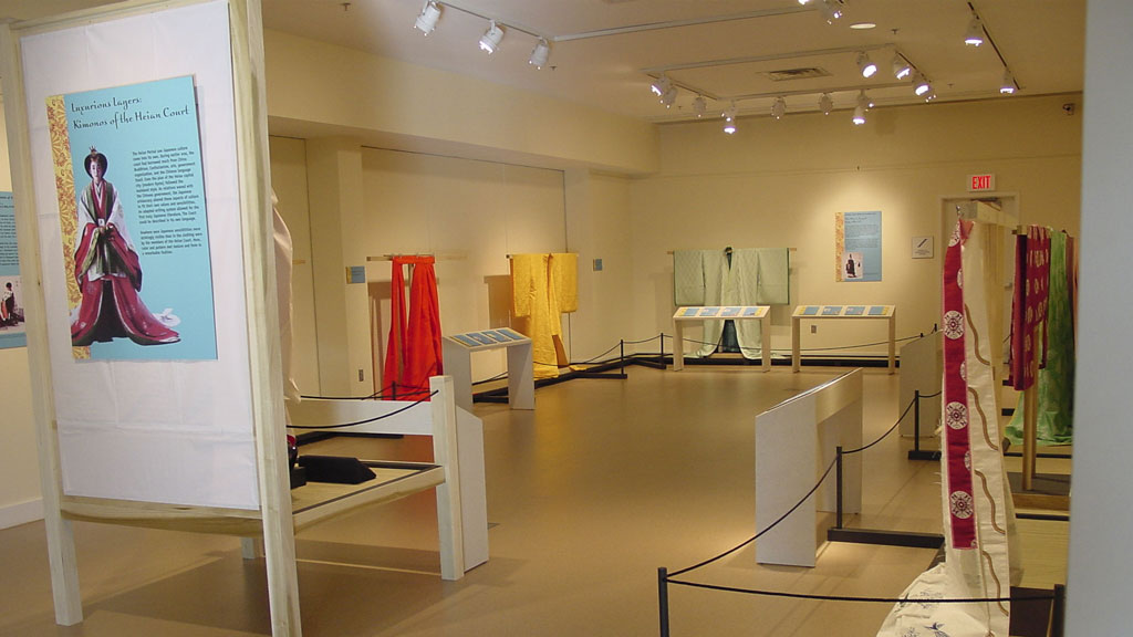 A photo of the Luxurious Layers exhibit
