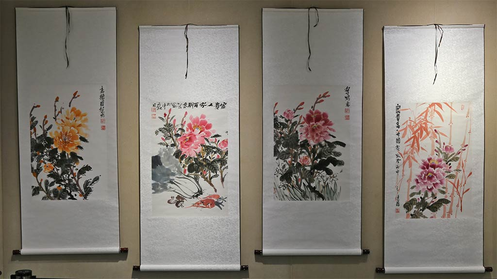 Exhibit Photo: Traditional Chinese Paintings by the Teachers from Jiangxi Normal University