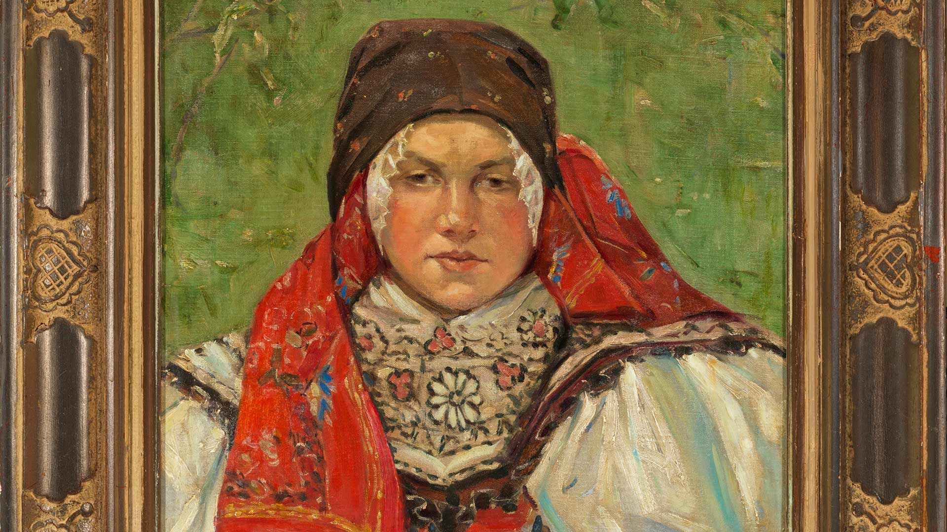 Woman with Headscarf(from Vacenovice or Ratiskovice)by Joža Uprka, c. 1897. Courtesy of George T. Drost.