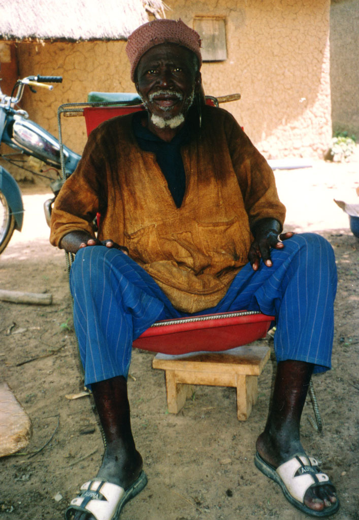 a man sitting in a chair