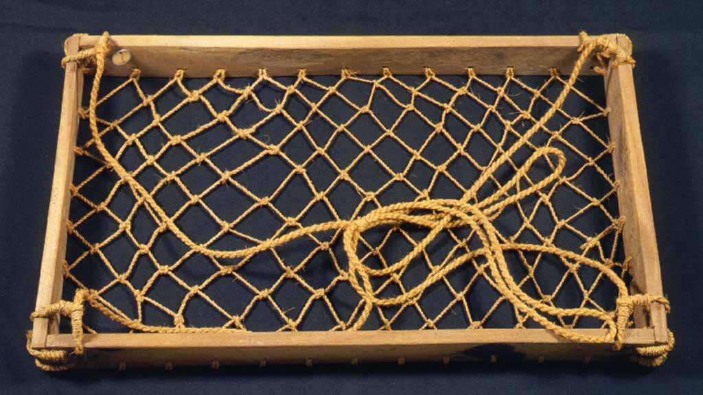 wooden frame with net bottom