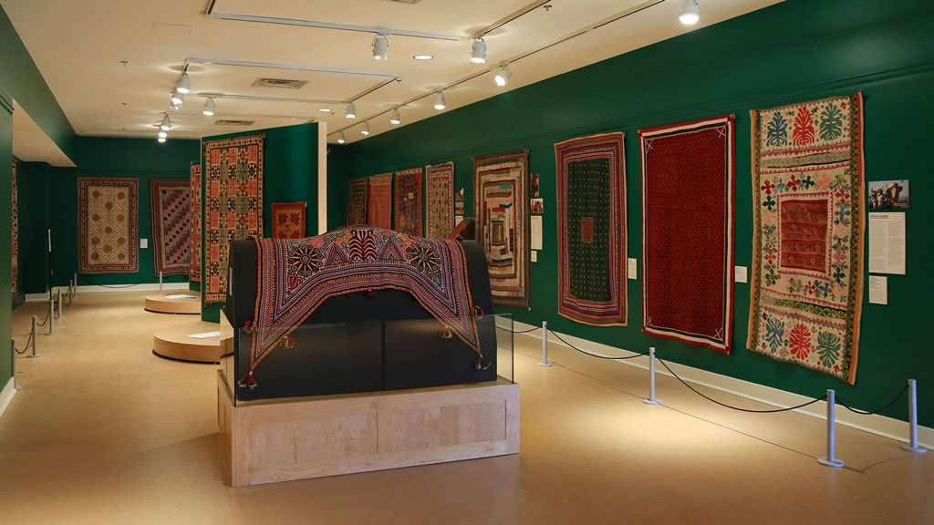 A photo of the South Asian Seams exhibit