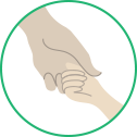 interlocked hands pictograph
